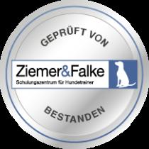 Logo mit bestandener Prüfung von Ziemer & Falke