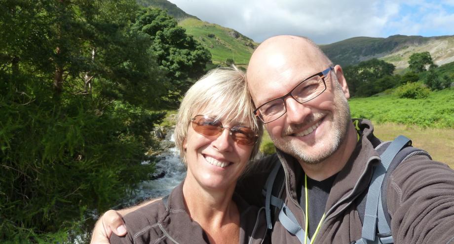 Susanne Hibinger und Frank Hibinger beim Wandern